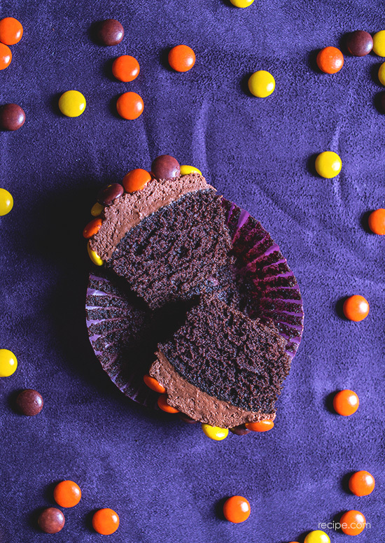Chocolate Halloween Cupcakes With Chocolate Ganache Frosting 4