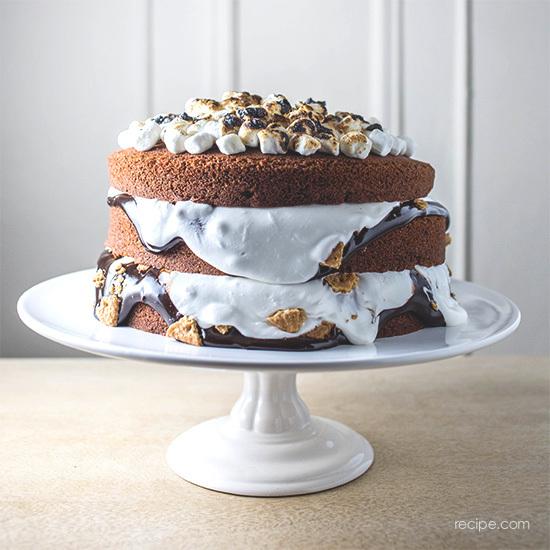 S'mores-Cake Recipe