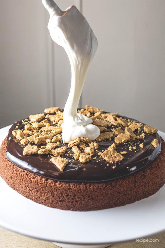 S'mores Cake Recipe 2
