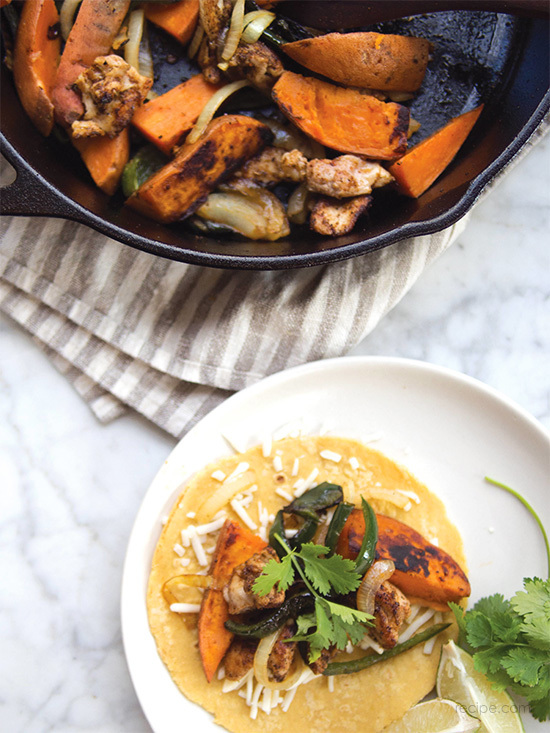 Sweet Potato And Spiced Chicken Fajitas Recipe