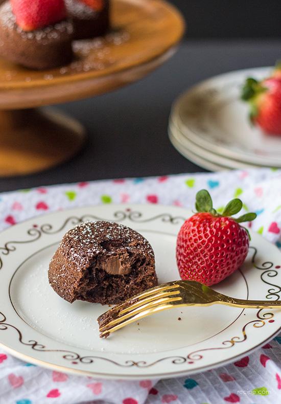 nutella molten chocolate cupcakes
