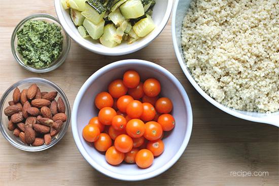 Pesto Quinoa Bowls With Poached Eggs Recipe 1
