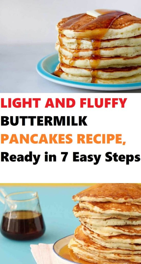 Light and Fluffy Buttermilk Pancakes Recipe 1