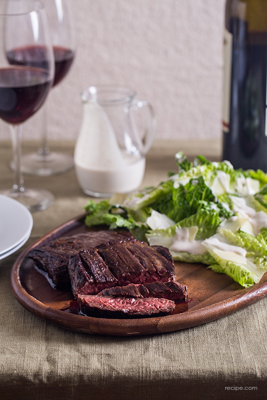 Caesar Salad with Skirt Steak 3