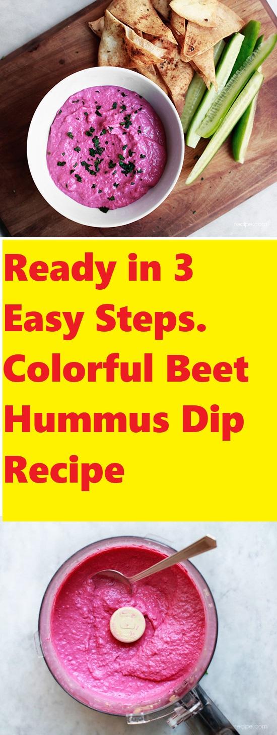 Colorful Beet Hummus Dip Recipe 1