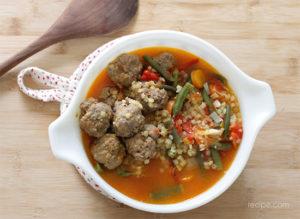 Slow Cooker Meatball Soup Recipe