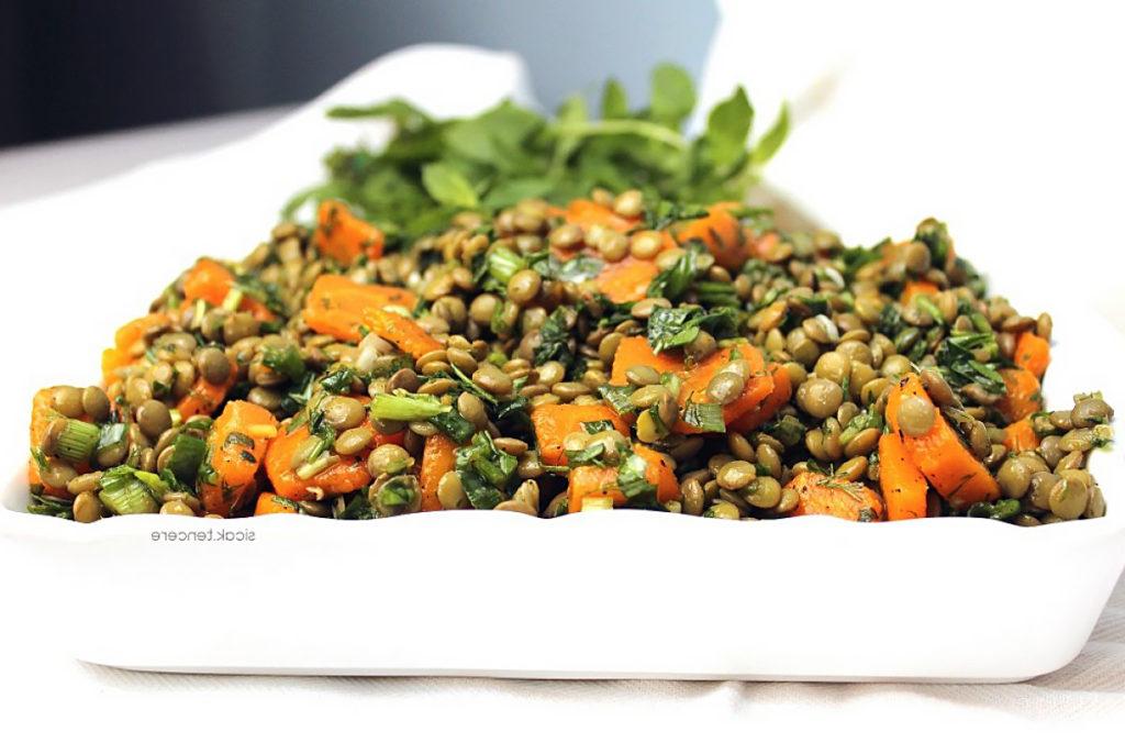 Recipe for lentil salad
